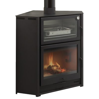 Hergom Laredo Corner Wood Cooking Stove - With Oven