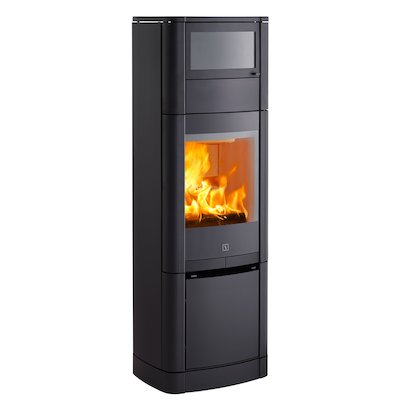 Scan 65 High Top Wood Cooking Stove - With Oven Black Solid Sides