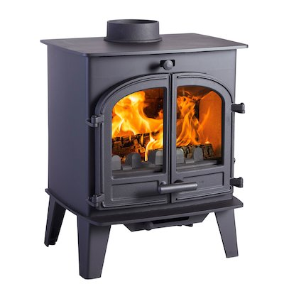 Cleanburn Lovenholm Multifuel Stove Black Double Doors