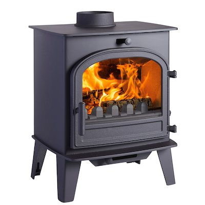 Cleanburn Lovenholm Multifuel Stove Black Single Door
