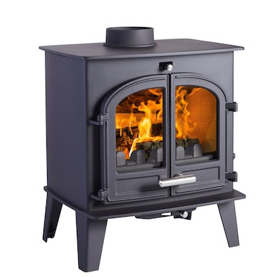 Cleanburn Norreskoven Multifuel Stove Black Double Doors