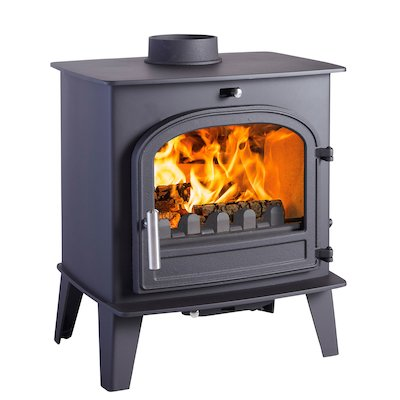 Cleanburn Norreskoven Multifuel Stove Black Single Door