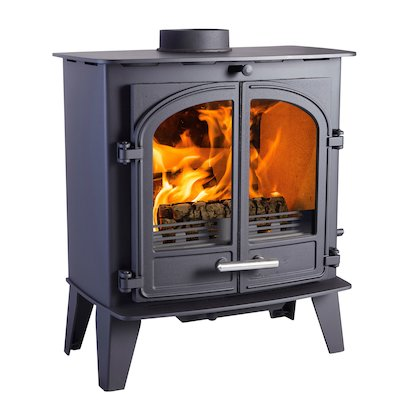 Cleanburn Sonderskoven Multifuel Stove Black Double Doors