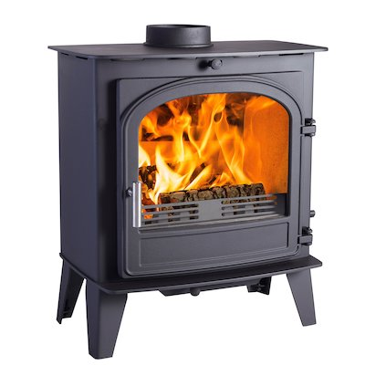 Cleanburn Sonderskoven Multifuel Stove Black Single Door