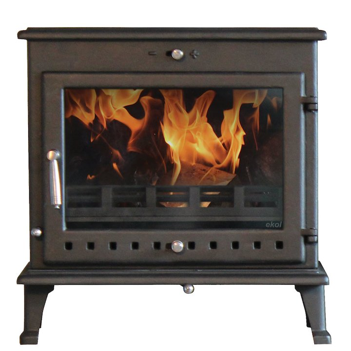 Ekol Crystal 12 Multifuel Stove - Black