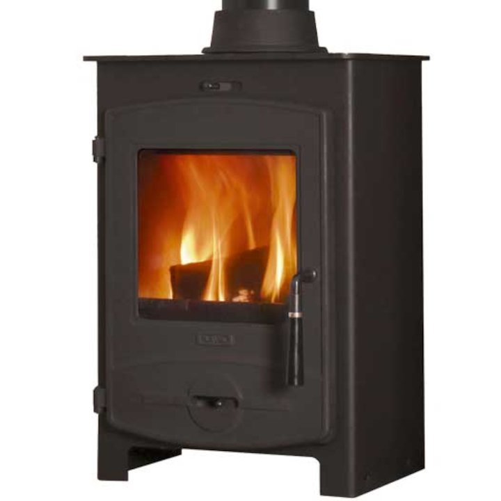 Flavel 1 Multifuel Stove Black CV Curved Door - Black