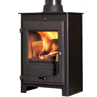 Flavel 1 Multifuel Stove Black SQ Square Door
