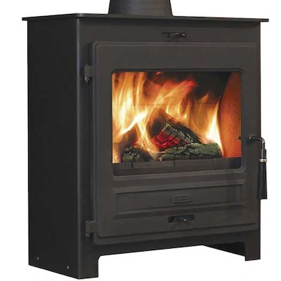 Flavel 2 Multifuel Stove Black SQ Square Door
