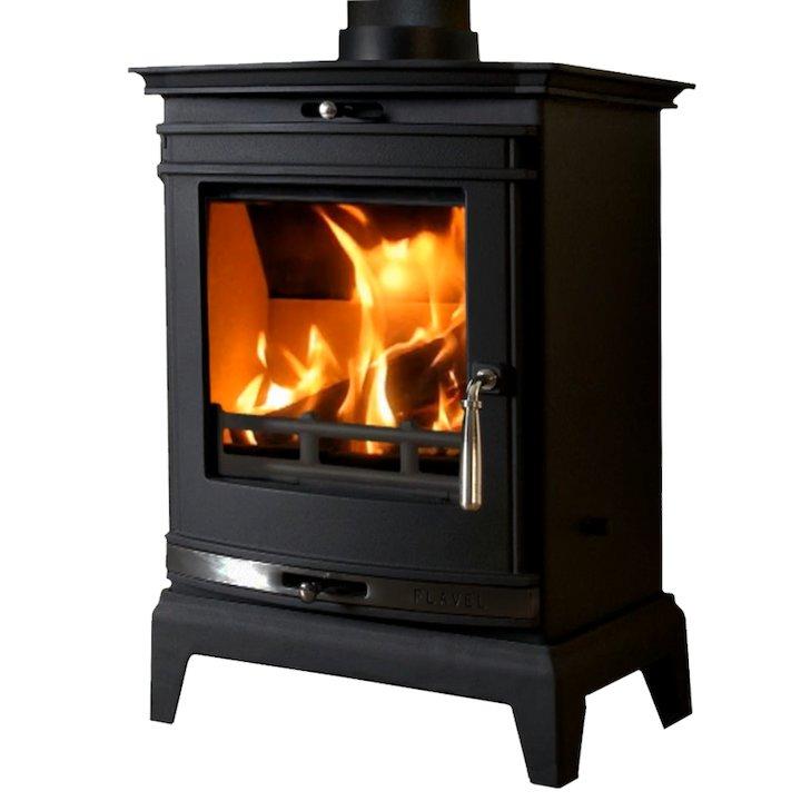 Flavel Rochester 5 Multifuel Stove Black Black Trim - Black