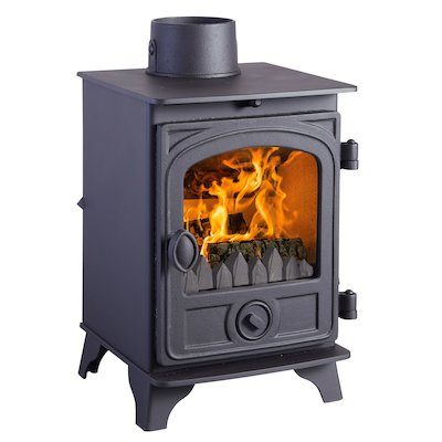 Hunter Hawk 3 Multifuel Stove Black Contemporary Door