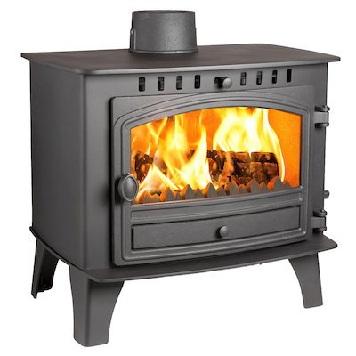 Hunter Herald 14 Multifuel Stove Black Single Door