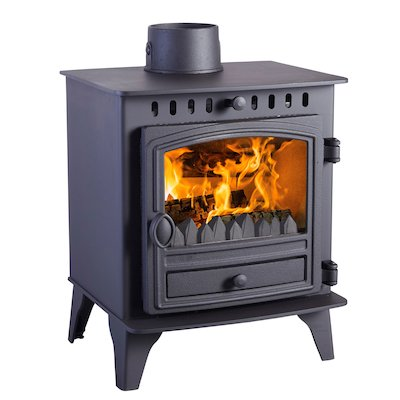 Hunter Herald 4 Multifuel Stove Black Single Door