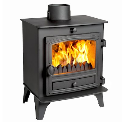 Hunter Herald 5 Compact Multifuel Stove Black Single Door