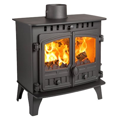 Hunter Herald 5 Slimline Multifuel Stove Black Double Doors