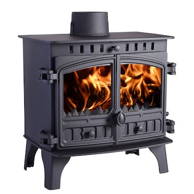 Hunter Herald 8 Multifuel Stove Black Double Doors