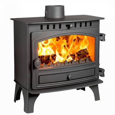 Hunter Herald 8 Slimline Multifuel Stove Black Single Door
