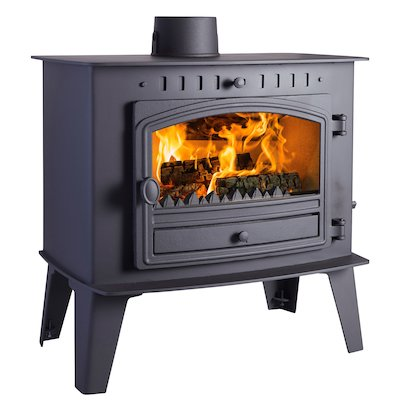 Hunter Herald Inglenook Low Multifuel Stove Black Single Door
