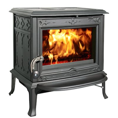 Jotul F100 Multifuel Stove Black Clear Glass Door