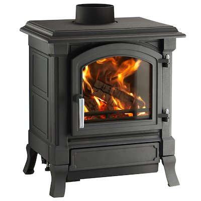 Nestor Martin Harmony 13 Multifuel Stove Black Satin Nickel Handle