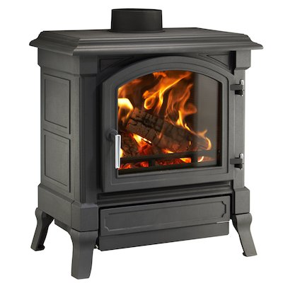 Nestor Martin Harmony 33 Multifuel Stove Black Satin Nickel Handle