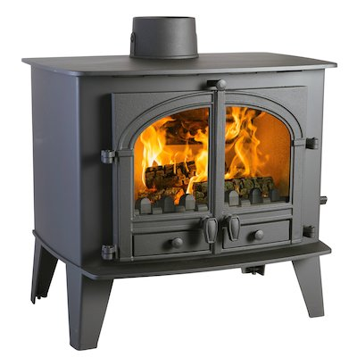 Parkray Consort 15 Multifuel Stove Black Double Doors