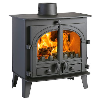 Parkray Consort 5 Slimline Multifuel Stove Black Double Doors