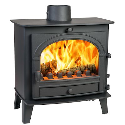 Parkray Consort 5 Slimline Multifuel Stove Black Single Door