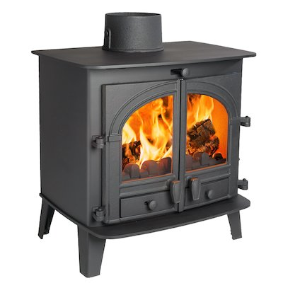 Parkray Consort 7 Multifuel Stove Black Double Doors