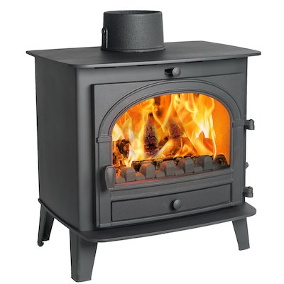 Parkray Consort 7 Multifuel Stove Black Single Door