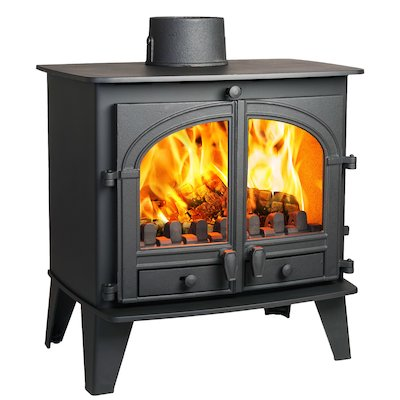 Parkray Consort 9 Multifuel Stove Black Double Doors