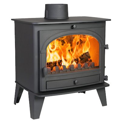 Parkray Consort 9 Multifuel Stove Black Single Door