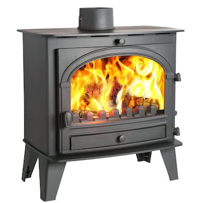 Parkray Consort 9 Slimline Multifuel Stove Black Single Door