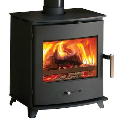Pevex Newbourne 40FS Multifuel Stove Black Solid Sides