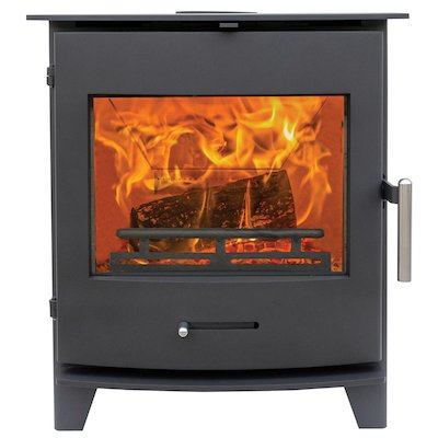 Pevex Newbourne 50FS Multifuel Stove Black Solid Sides