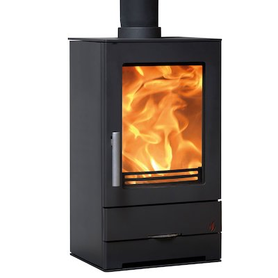 ACR Trinity Multifuel Stove Black Solid Sides