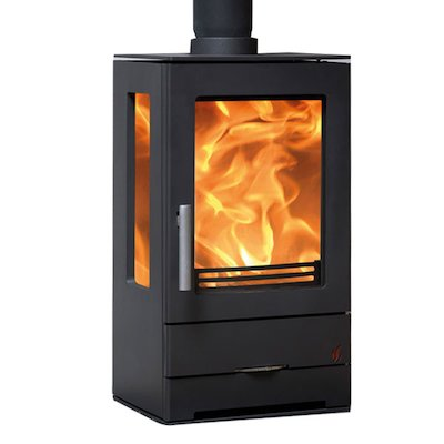 ACR Trinity Multifuel Stove Black Side Glass Windows