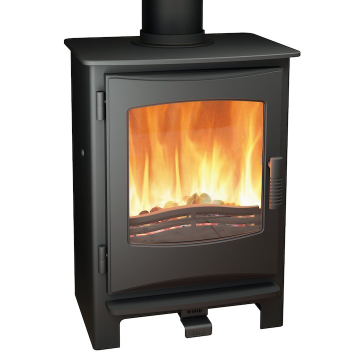 Broseley Evolution Desire/Ignite 5 Multifuel Stove Black Cast-Iron Door - Black