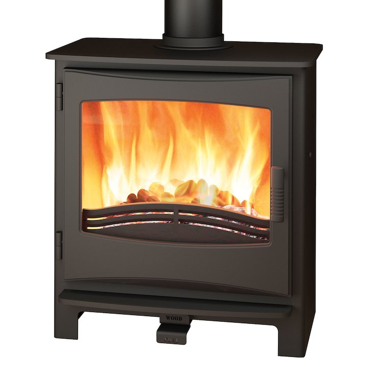 Broseley Evolution Desire/Ignite 7 Multifuel Stove Black Cast-Iron Door - Black