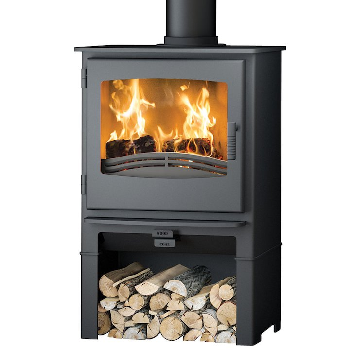 Broseley Evolution Desire/Ignite 7 Logstore Multifuel Stove Black Steel Door - Black