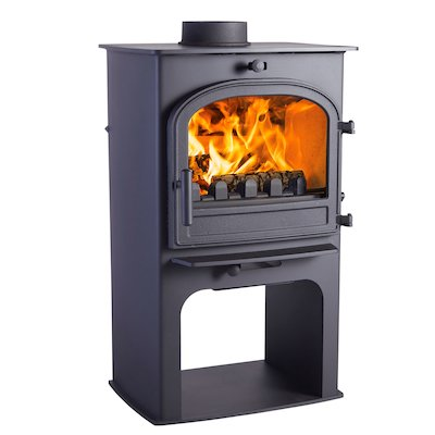 Cleanburn Lovenholm Logstore Multifuel Stove Black Single Door