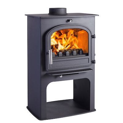 Cleanburn Norreskoven Logstore Multifuel Stove Black Single Door