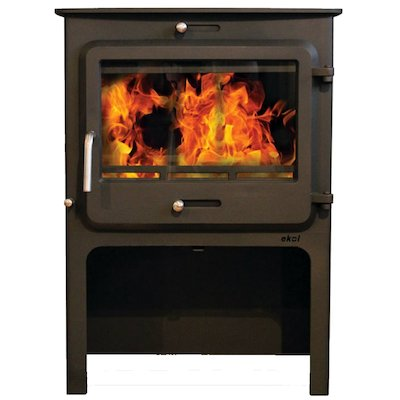 Ekol Clarity Vision Wide Logstore Wood Stove