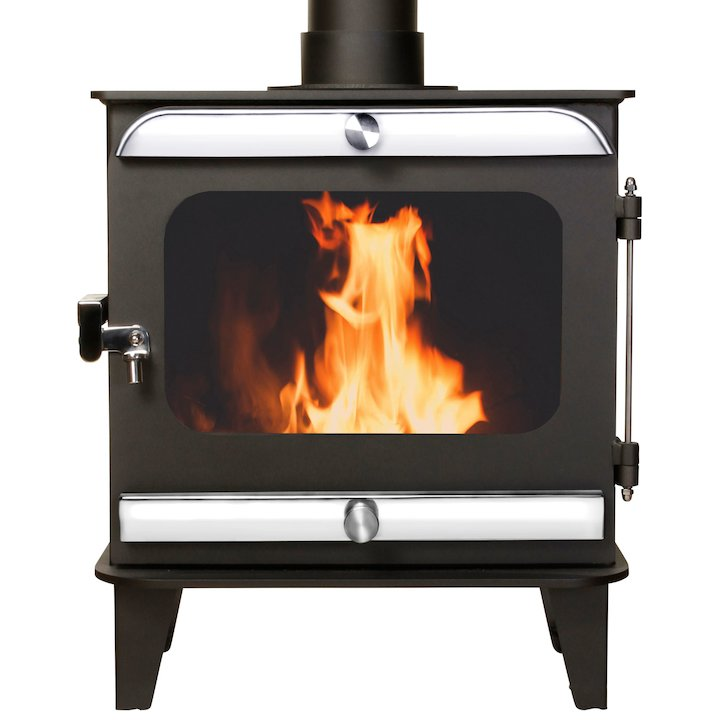 Firestorm 10 Multifuel Stove Anthracite Polished Stainless Trim - Anthracite