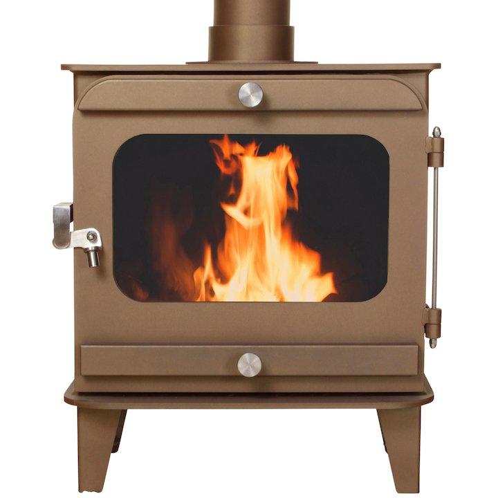 Firestorm 10 Multifuel Stove Honey Glow Brown Colour Matched Trim - Honey Glow Brown