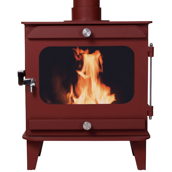 Firestorm 10 Multifuel Stove Mojave Red Colour Matched Trim - Mojave Red