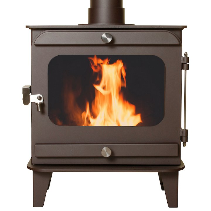 Firestorm 10 Multifuel Stove Metallic Rich Brown Colour Matched Trim - Metallic Rich Brown