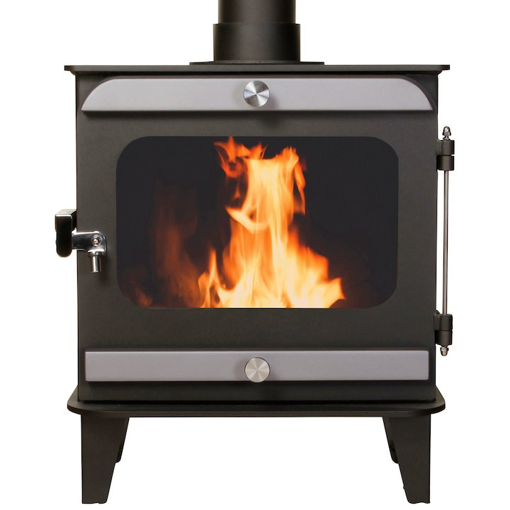 Firestorm 6.5 Multifuel Stove Anthracite Brushed Stainless Trim - Anthracite