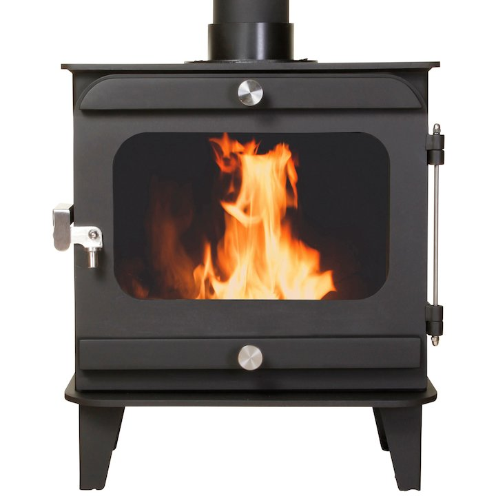 Firestorm 6.5 Multifuel Stove Black Colour Matched Trim - Black