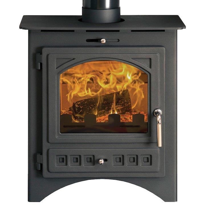 Pevex Bohemia X40 Multifuel Stove Black Cast-Iron Door - Black