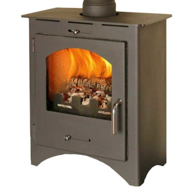 Pevex Bohemia X40 Multifuel Stove Black Steel Door - Black